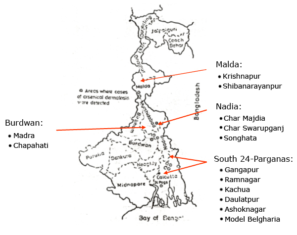 Bengal Map India Map of West Bengal Showing